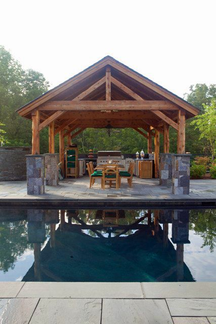 This Post And Beam Pavilion Is Ready To Take Center Stage As The Summer Season Will Soon Be Upon Us Set Adjacent A Gorgeous Yankee Barn Home In