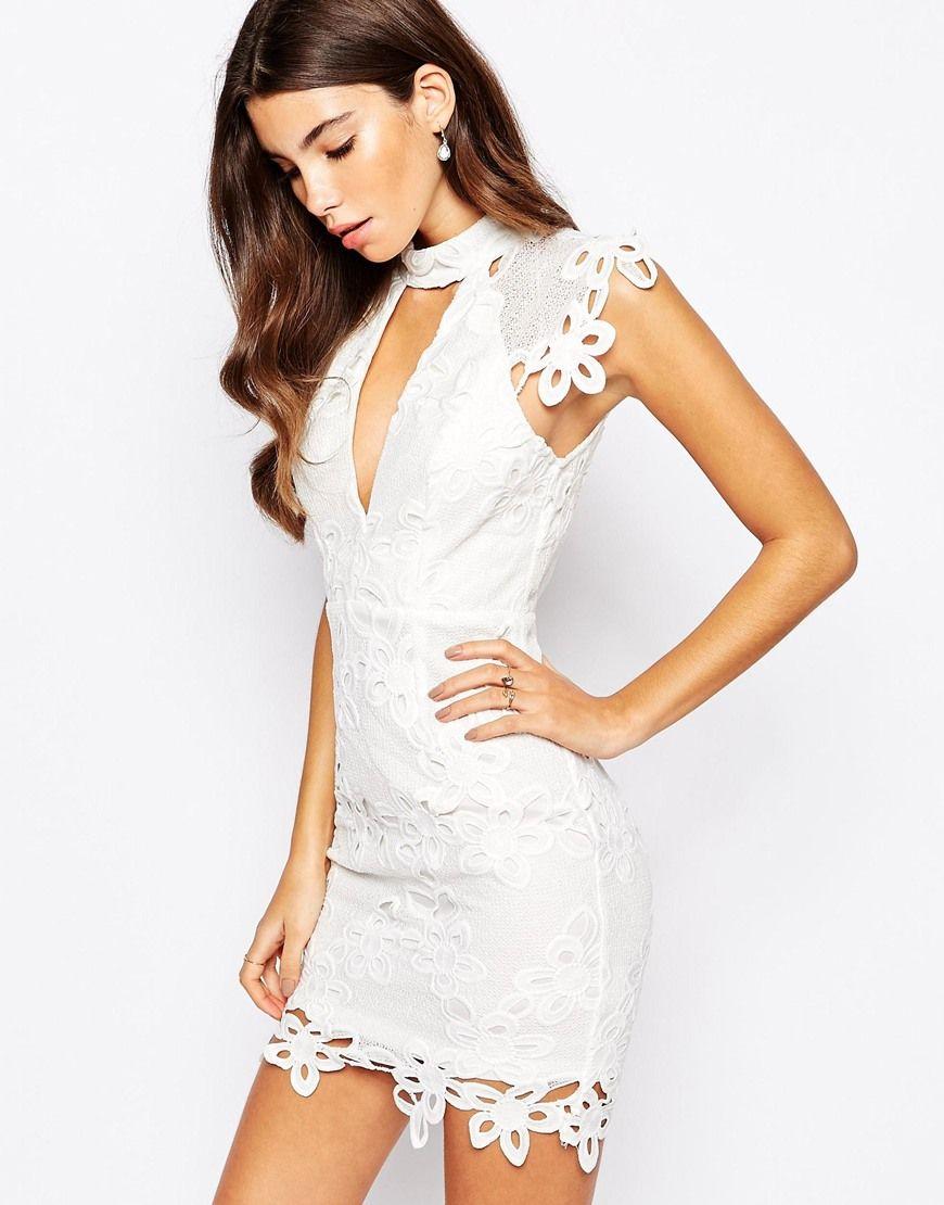 Love Triangle High Neck Lace Dress | Tiefer ausschnitt ...