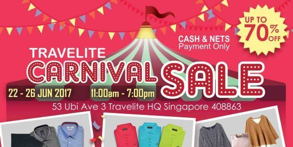 Carnival Sale  >> Travelite Singapore First Ever Carnival Sale Up To 70 Off Promotion