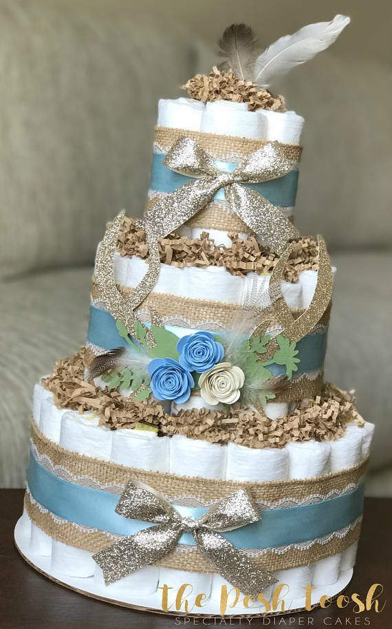 Please Read Store Announcement Before Placing An Order Baby Boy Blue And Gray Dia Boy Baby Shower Centerpieces Baby Diaper Cake Boy Baby Shower Diaper Cake