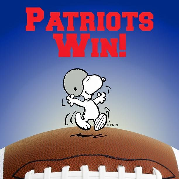 Patriots Win The Peanuts Gang Snoopy Patriots Football