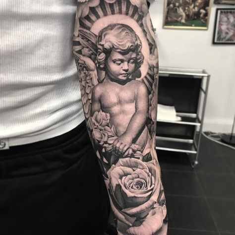 Tattoo Angel Statue Forearm Mattroetattoo Artofit