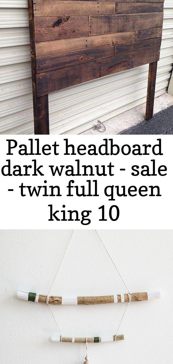 Pallet headboard dark walnut - sale - twin full queen king 10 #innenhofgestaltung