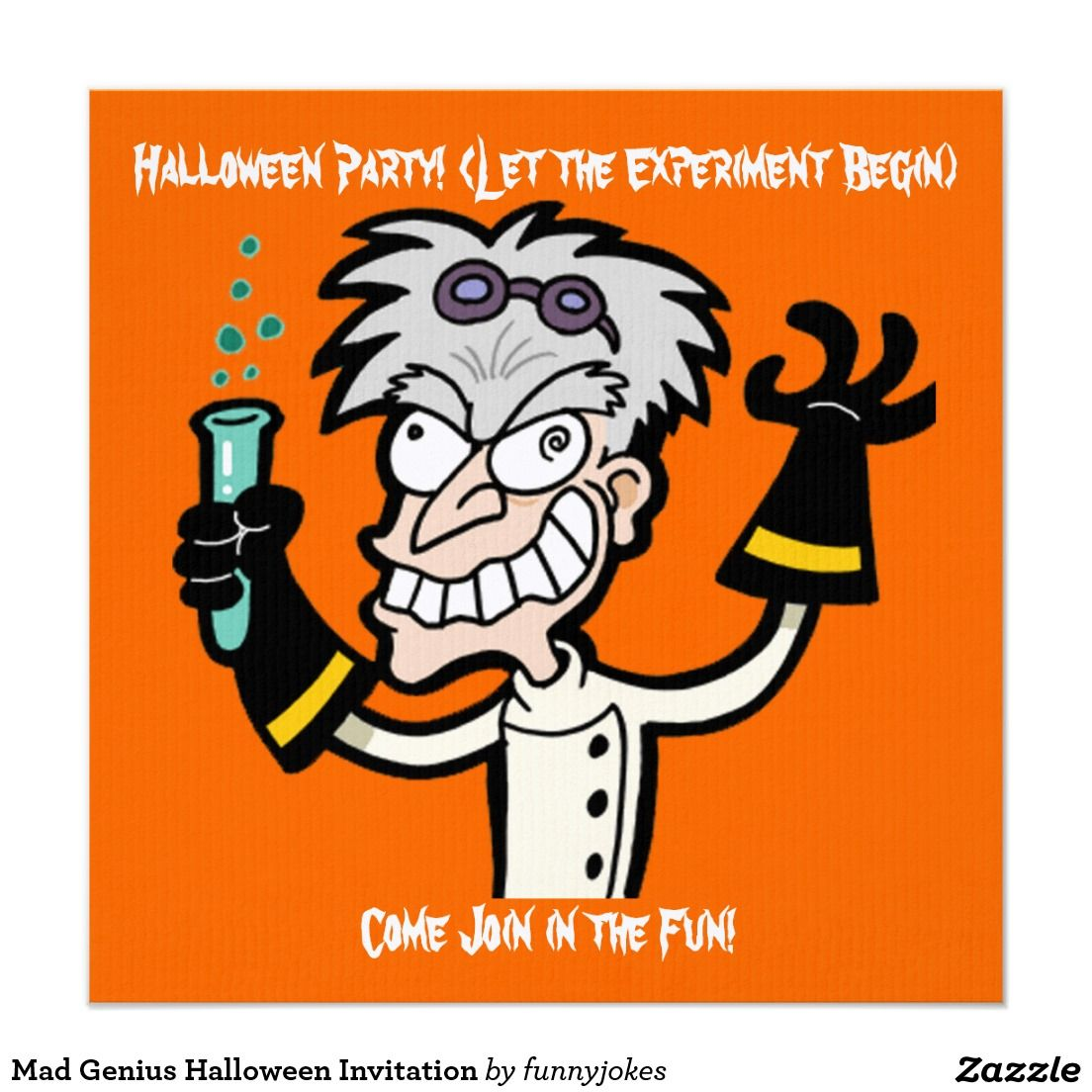 Mad genius halloween invitation halloween invitations mad and mad genius halloween invitation stopboris Images