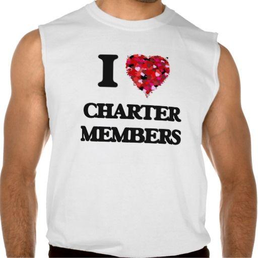 I love Charter Members Sleeveless Tees Tank Tops