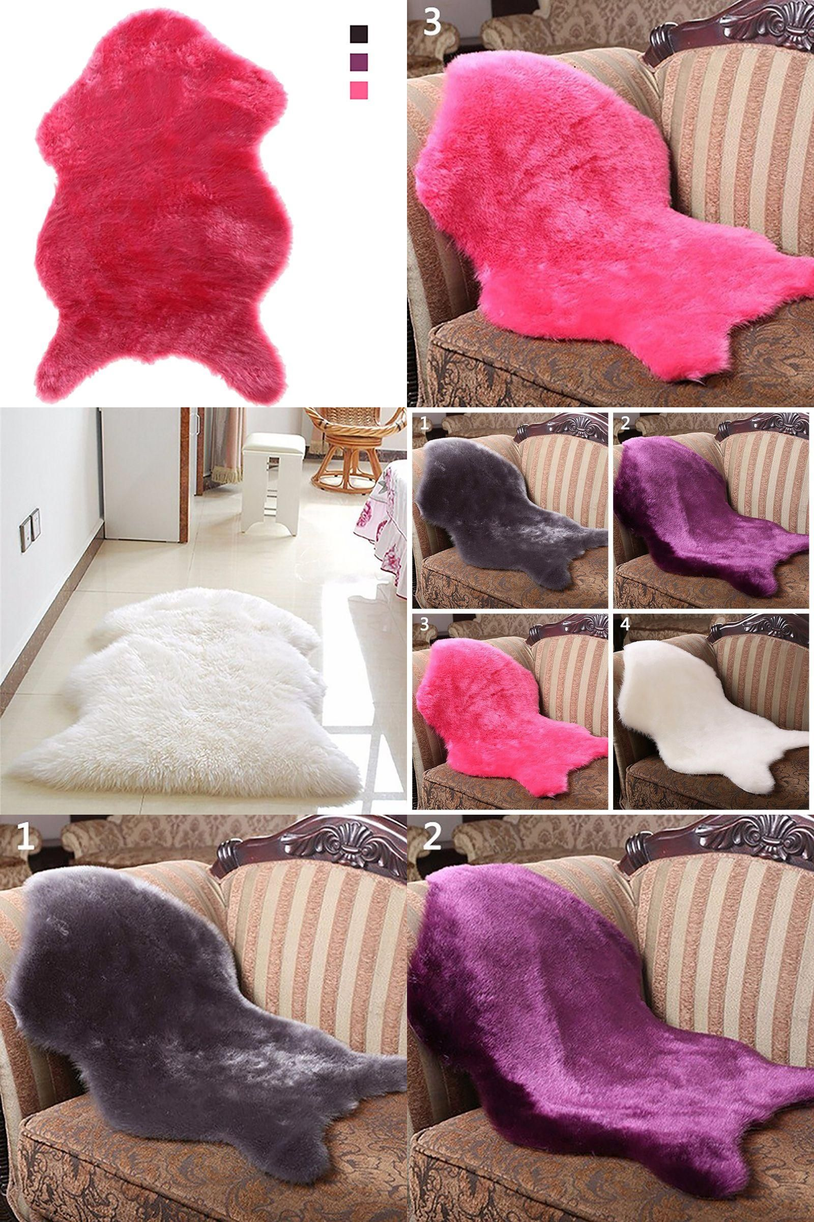 Visit to Buy] Hot Soft Faux Sheepskin Rug Mat Carpet home Use Pad