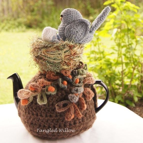 Granny Square Tea Cosy @ etsy.com Owl Te...   crochet & knitted tea ...