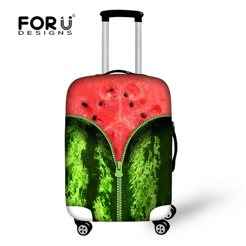 Cheap Sale Fashion 3d fruit luggage cover waterproof luggage cover ...