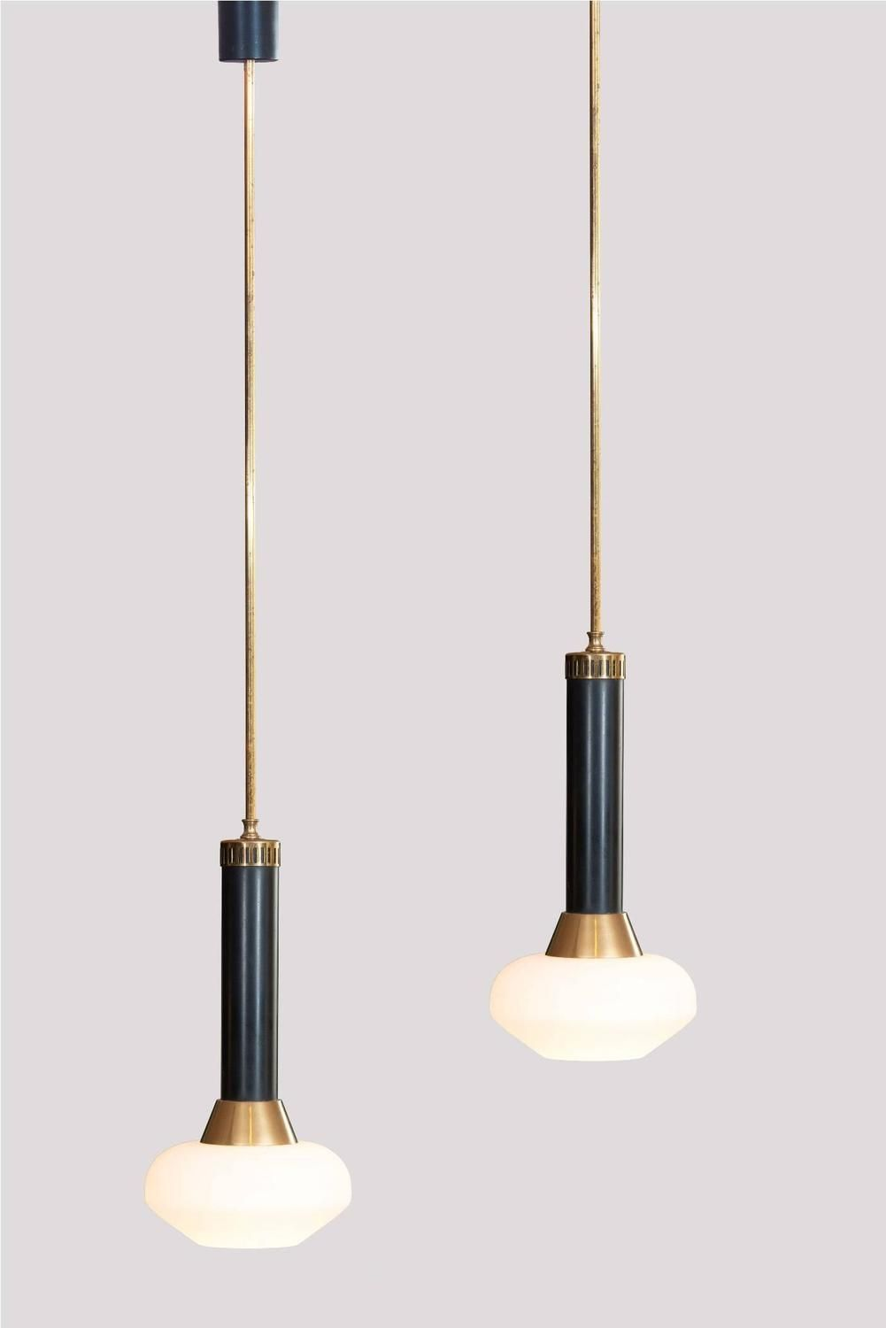Pair of Stilnovo Pendants image 2  Light  Pinterest  조명 및 인테리어