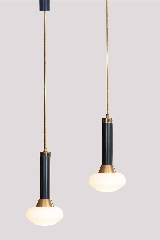 Pair of Stilnovo Pendants   Light   Pinterest   Lighting ...