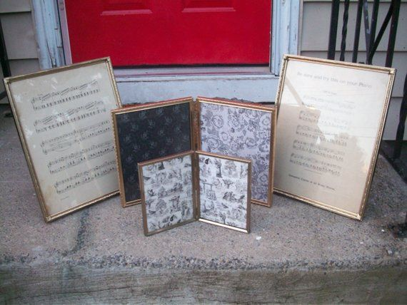 Large Metal Frame Vintage Ornate Gold Metal Picture Frame Set 11 X 14 Double 8 X 10 5 X Rustic Wedding Table Decor Rustic Wedding Table Rustic Table Decor