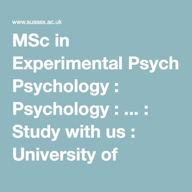 MSc in Experimental Psychology  Psychology   Study with us