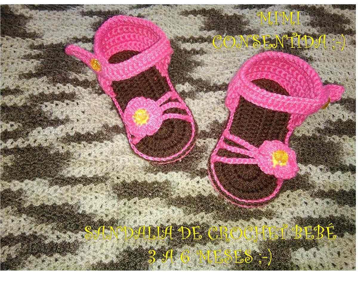 c94abd61c sandalias tejidas a crochet para bebe. Cargando zoom.