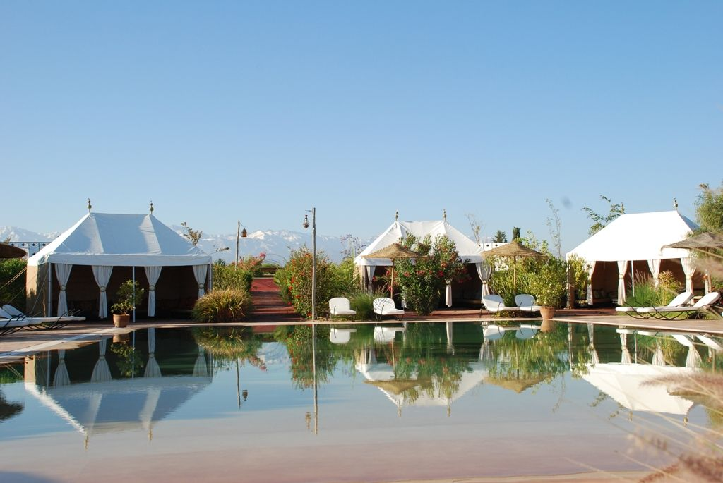 Jardin D Issil Marrakech Morocco Nr Atlas Mountains With