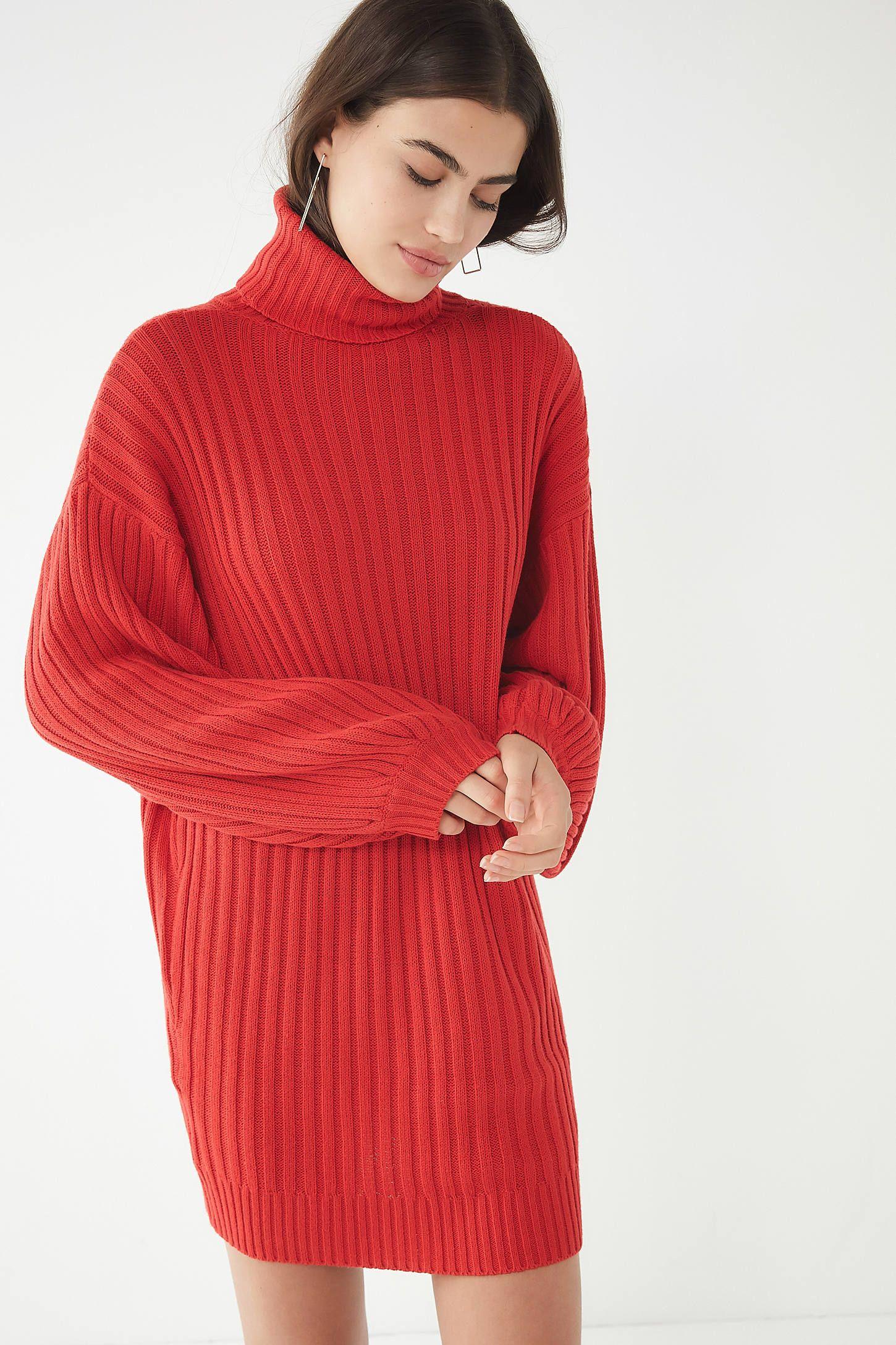 fc0efdf200 UO Jill Turtleneck Sweater Mini Dress