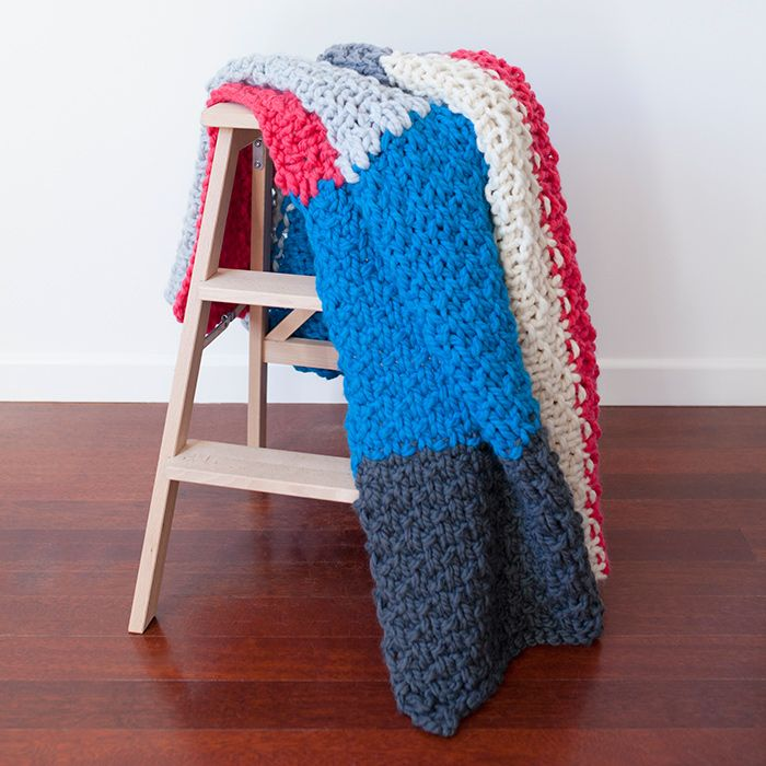 Mega Cabin Blanket In Chunky Nz Wool Colour Pop Blanket And Cabin