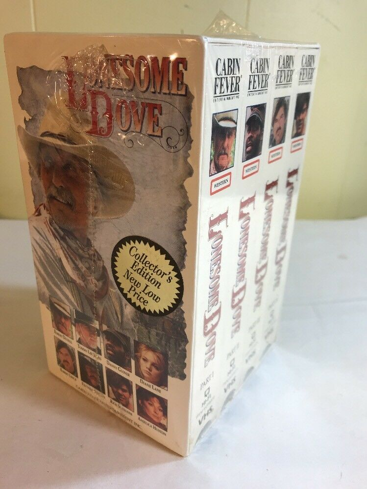 Where Can I Sell My Vhs Tapes >> Lonesome Dove Box Set Of 4 Vhs Tapes Sealed Wonderful