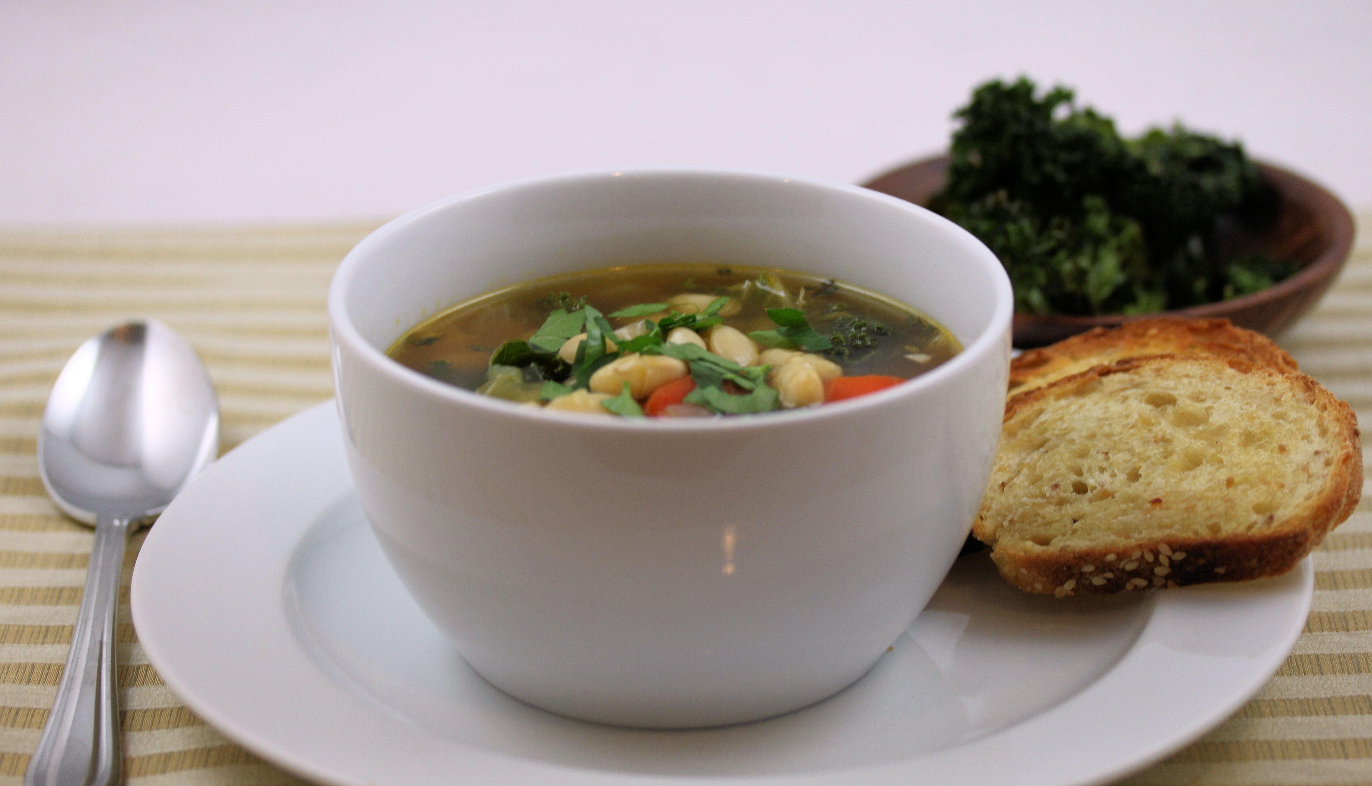 White Bean & Kale Soup | soups | Pinterest