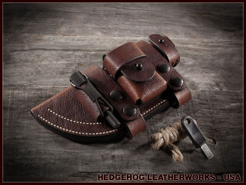 how to make a tracker knife sheath