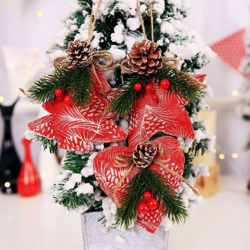 New Creative Christmas Tree Decoration Pendant Pine Cone