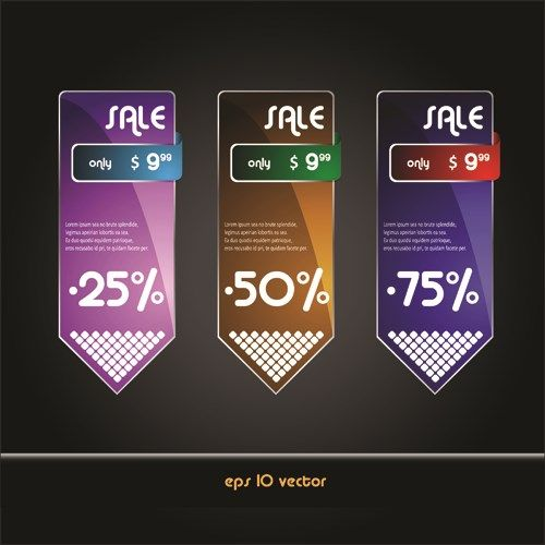 Online Store Discount labels vector 03 Free Vectors Pinterest