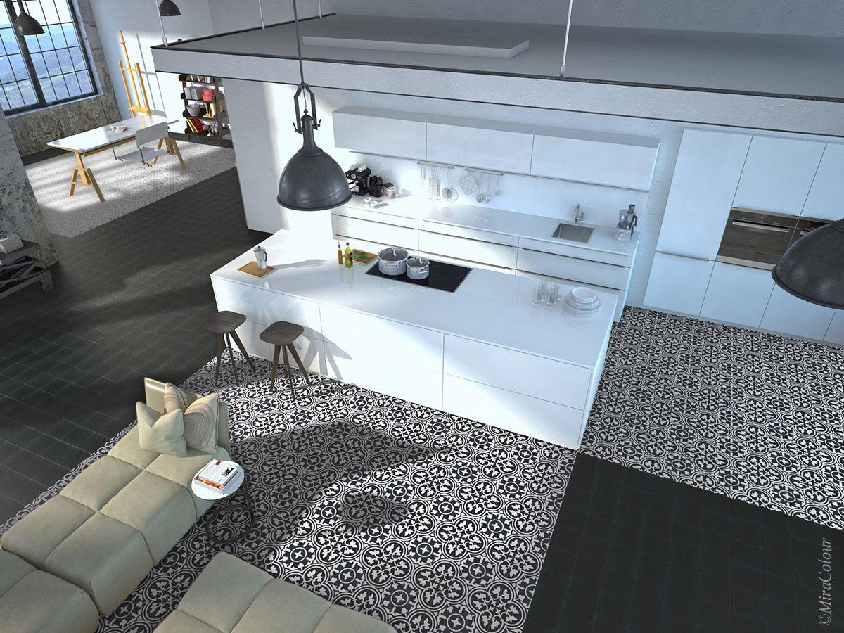 Miracolour Zementfliesen Zementbodenfliesen Küche