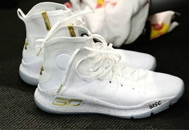 Stephen Curry SC 4 All White Gold  03f738834