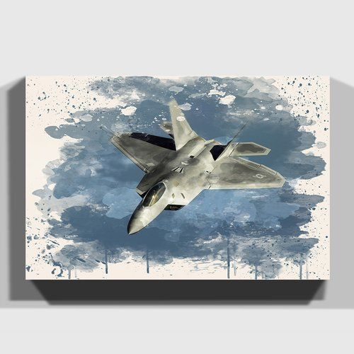 East Urban Home Military Fighter Jet Plane 3 Painting On Canvas Canvas East Fighter Canvas Painting Plane Wall Art Fighter Planes Art