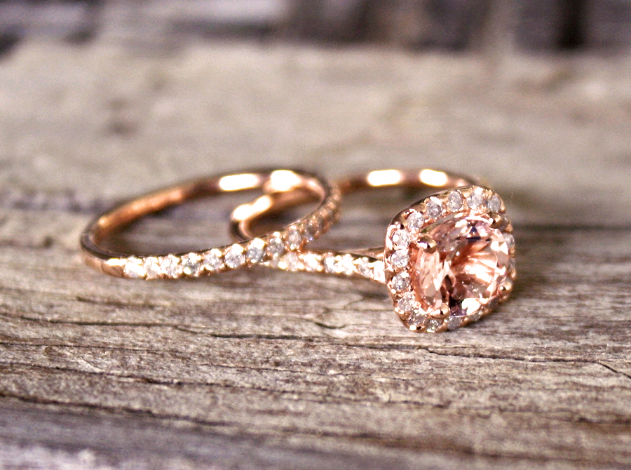 Top 15 Best Vintage Rose Gold Morganite Engagement Rings Under 500