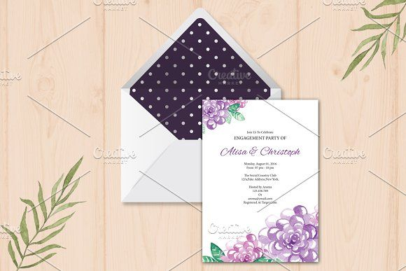 Engagement Party Invitation Template by Wedding Templates on - engagement party templates
