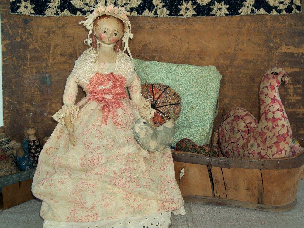 Beautiful paper mache doll