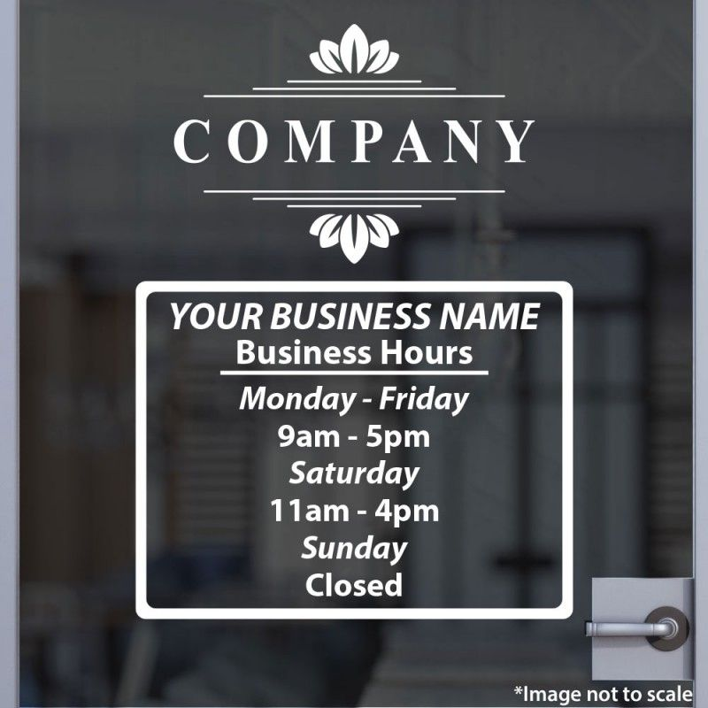 Open Hours With Logo Style 11 Store Fronts