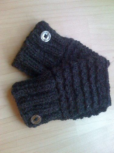 Free Knitting Patterns Beginners Easy To Knit Handwarmers Last