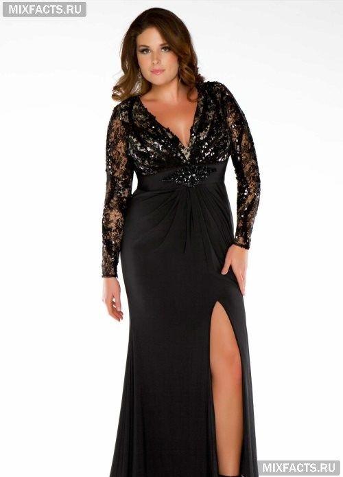 Платье вечернее для полных