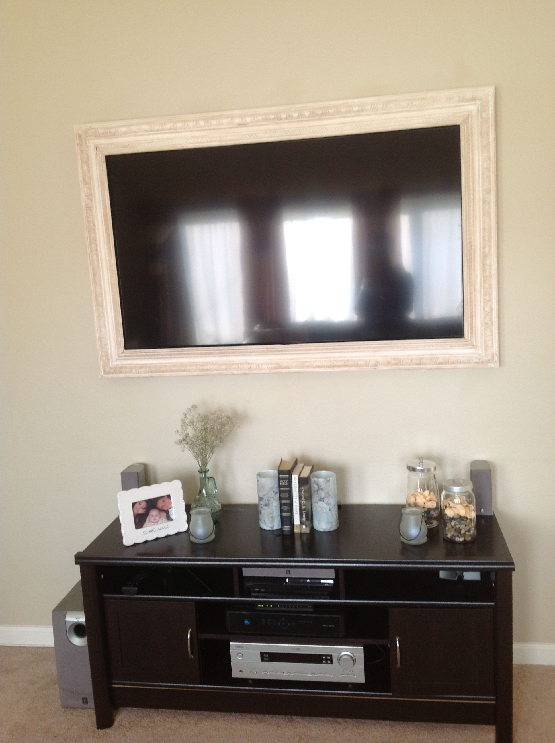Flat screen tv framehubby made it took a long time to