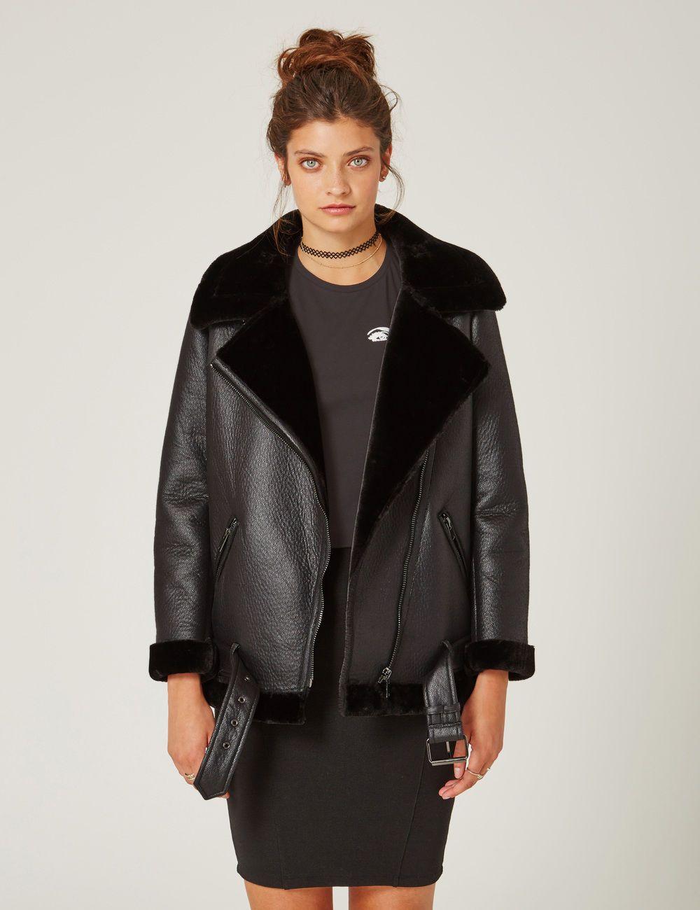 meilleur site web e6b0a da67b Blouson bombardier noir femme • Jennyfer | Shopping ...