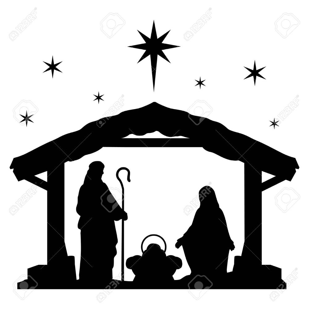 Nativity Scene Silhouette Holiday Holly Night Christmas Nativity Scene Silhouette Nativity Silhouette Nativity Scene