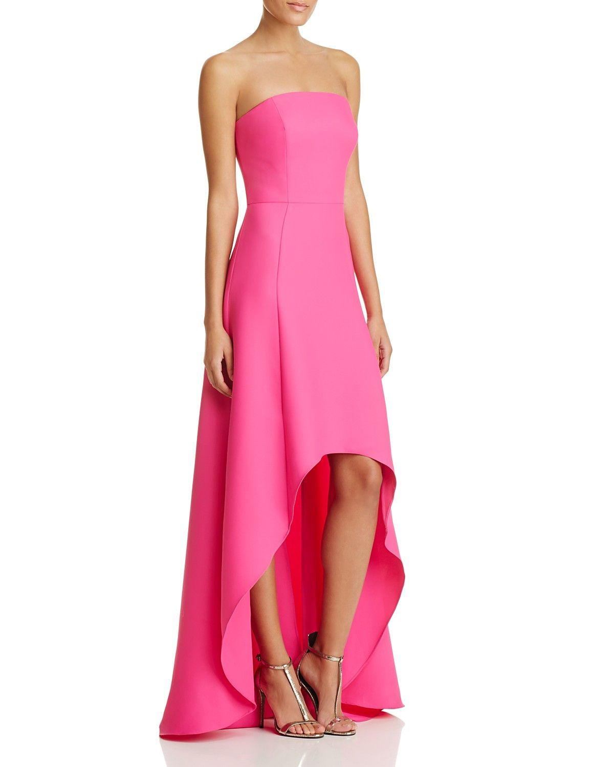 Laundry by Shelli Segal Strapless High Low Gown   Evening   Pinterest