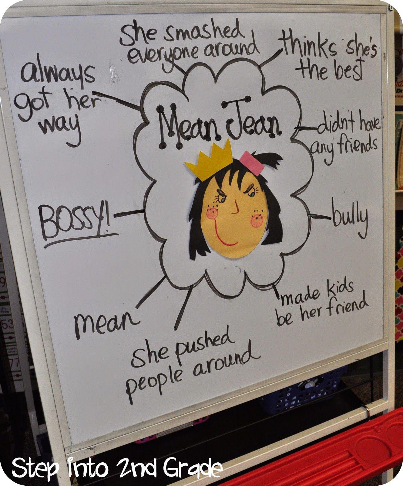 Describing Mean Jean From The Recess Queen Anchor Charts