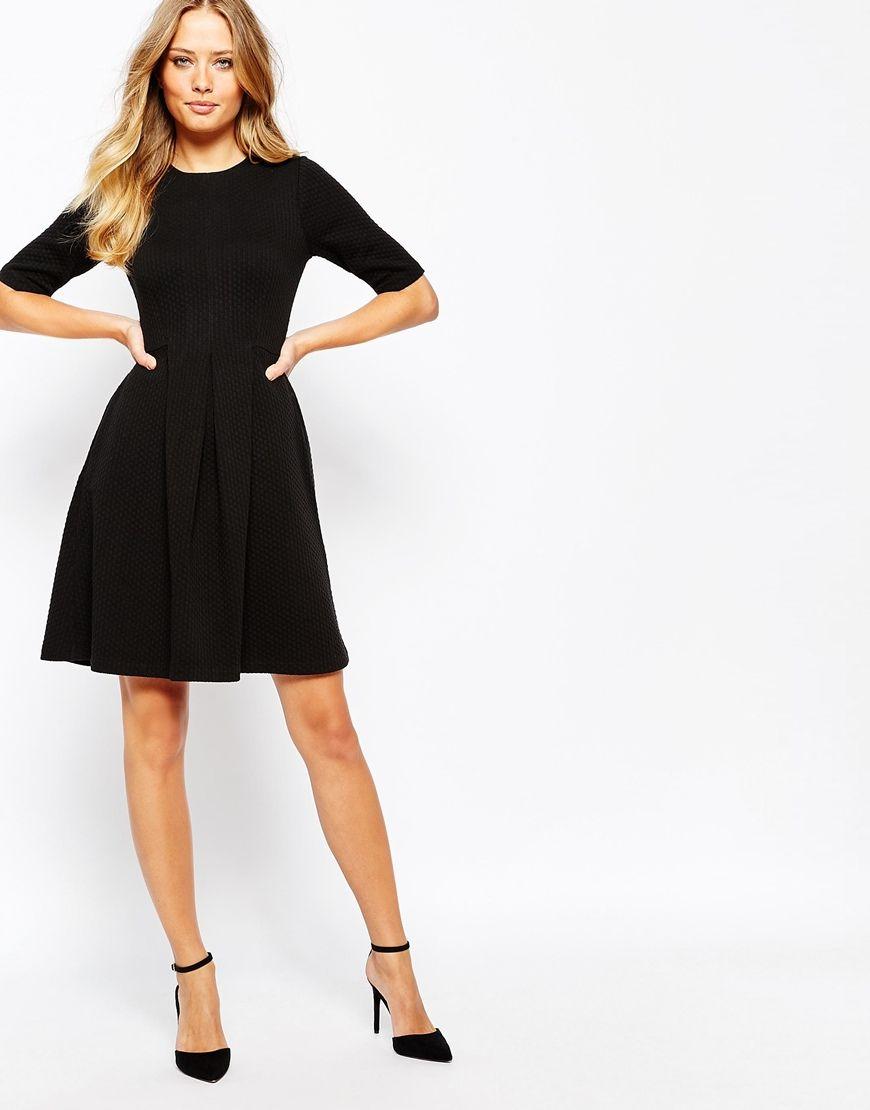 Black dress jersey - Black Whistles Jersey Flippy Dress 95