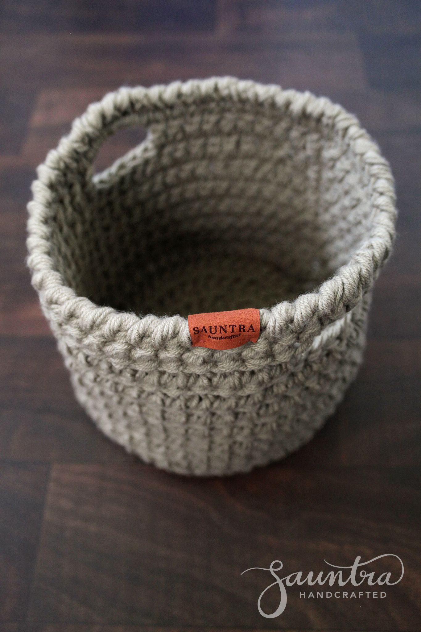 Large Crochet Basket with Handles | Sauntra Handcrafted | Get ...