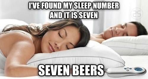 What's your sleep number? #BeerBaconMusic