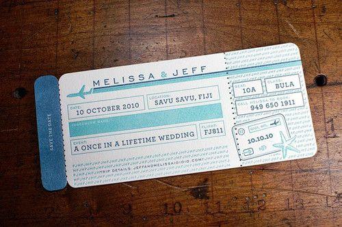 flight ticket wedding invitations - Google Search Astoriabout - airplane ticket invitations