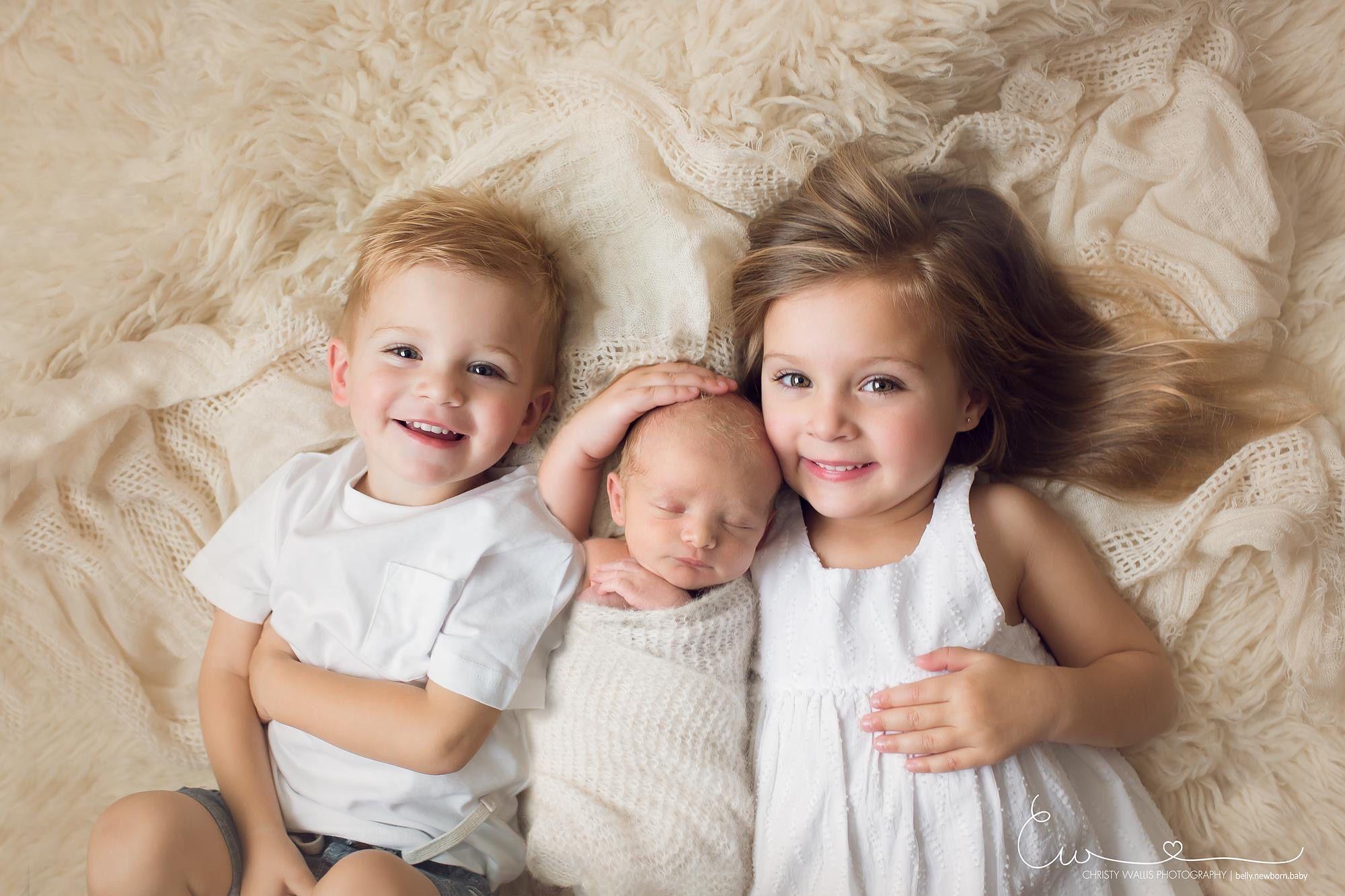 3 under 4 three under four siblings three kids newborn photo newborn photos siblings sibling photos sibling newborn photo new baby