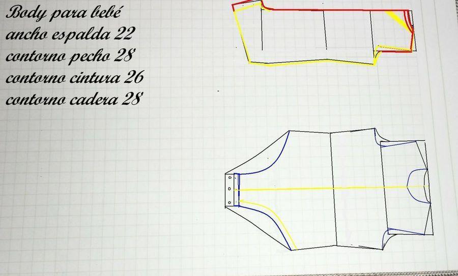 Manualidades de costura: Patrones para elaborar un body para bebé ...