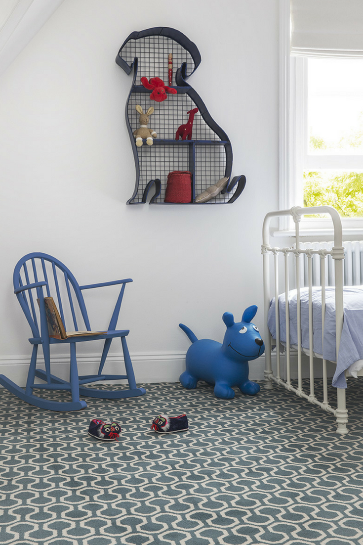The Stunning Blue Alternative Flooring Quirky