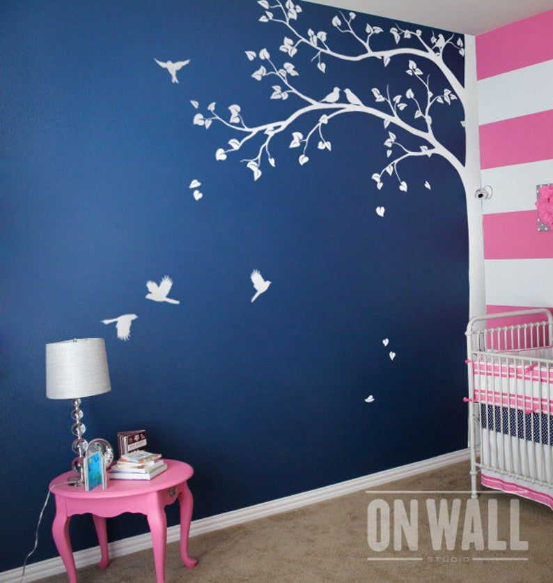 Wall Decal Large Tree Wall Decal Living Room Wall Decals Etsy In