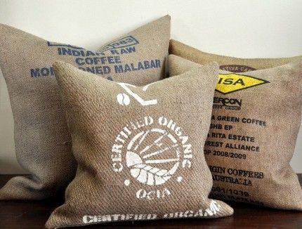 Pillow Sack Ideas: Coffee sack pillows   Design & Ideas   Pinterest   Coffee sacks    ,