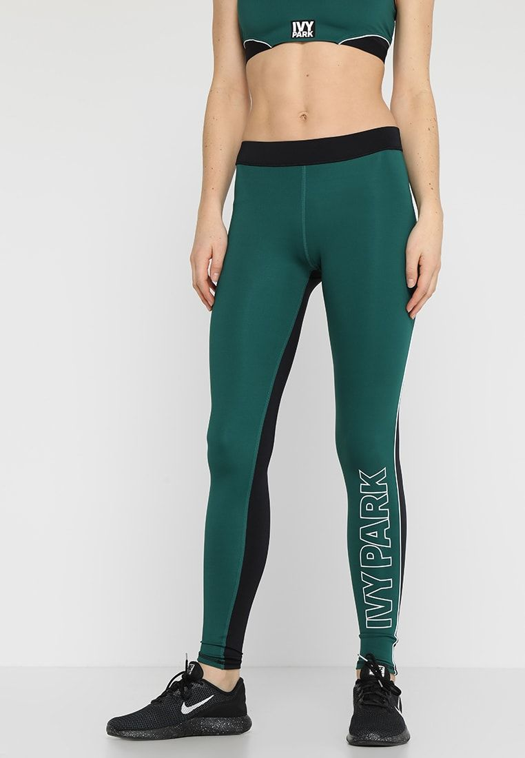 ACTIVE DRAWCORD ELASTIC LEGGINGS Collants forest green