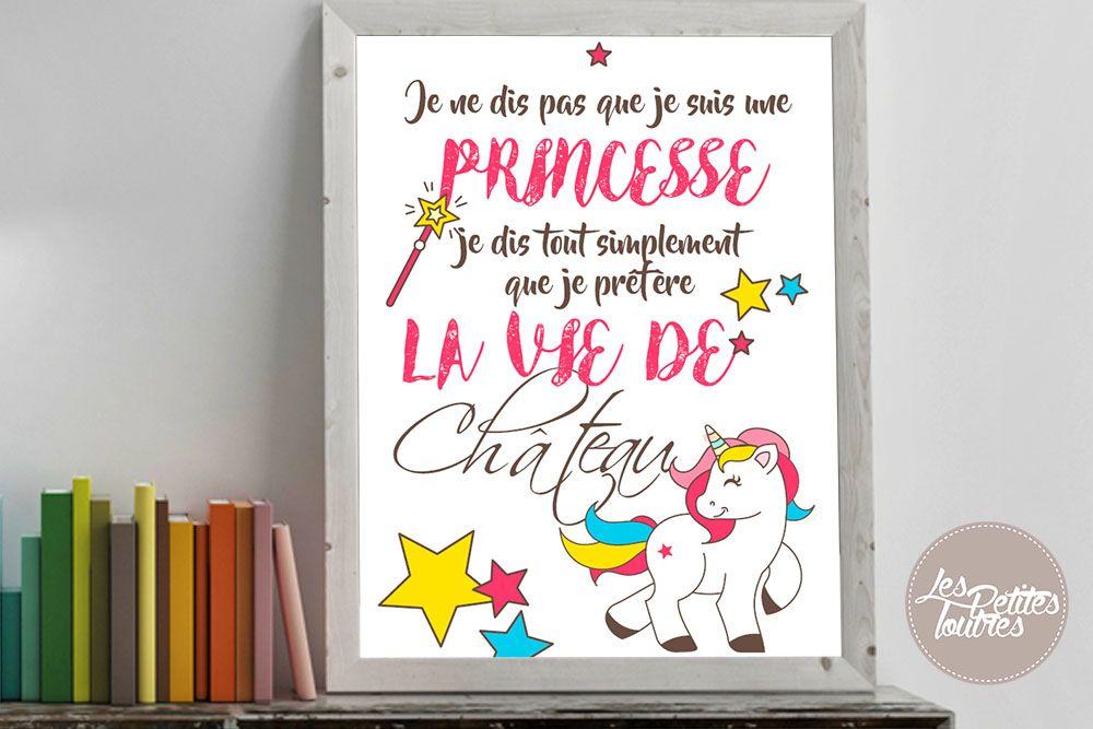 Poster A Imprimer Je Ne Dis Pas Que Je Suis Une Princesse Free Printable Coussin Nuage Tuto Boite En Tissu Princesse